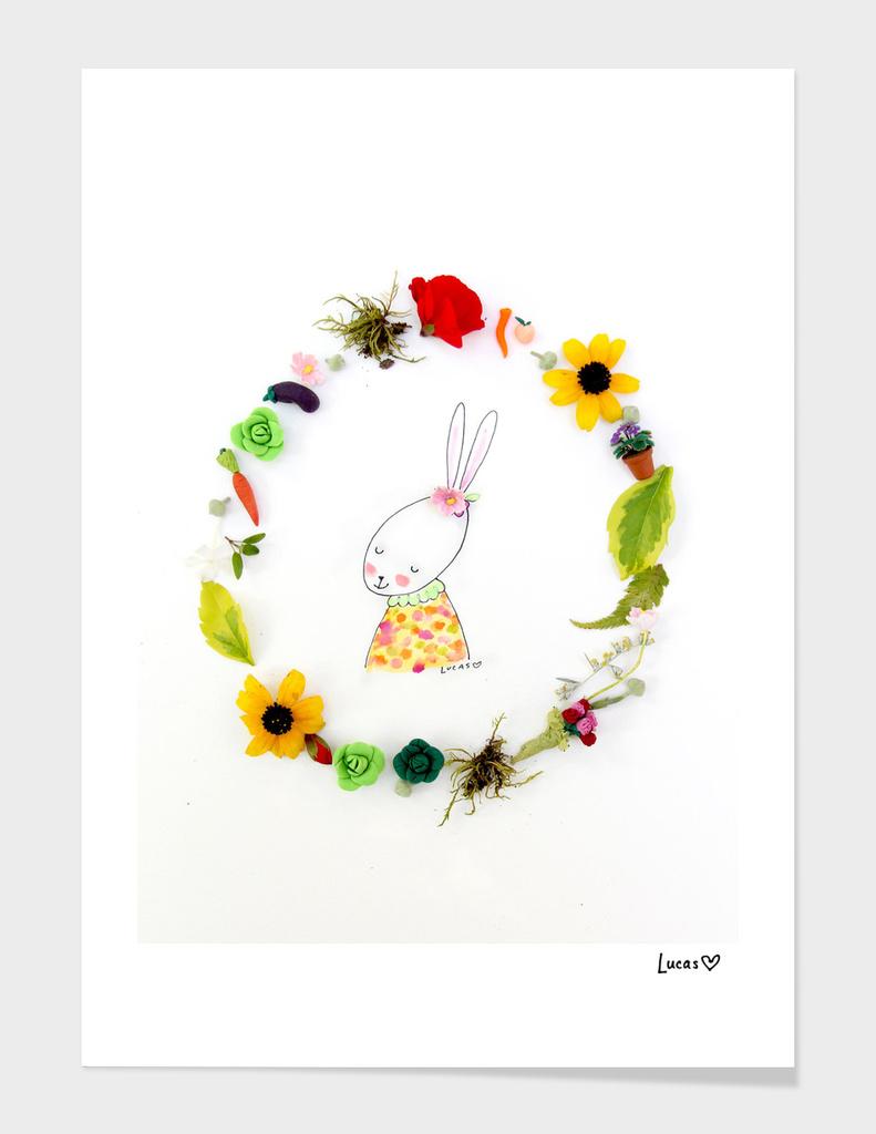 Zinnie the Rabbit main illustration