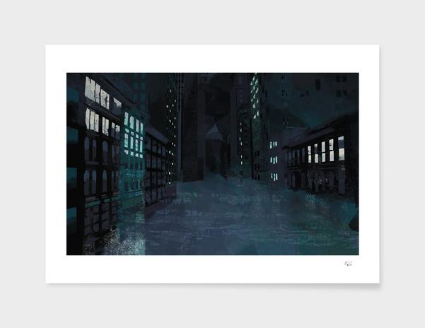 A City at Night main illustration