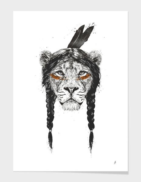 Warrior lion main illustration