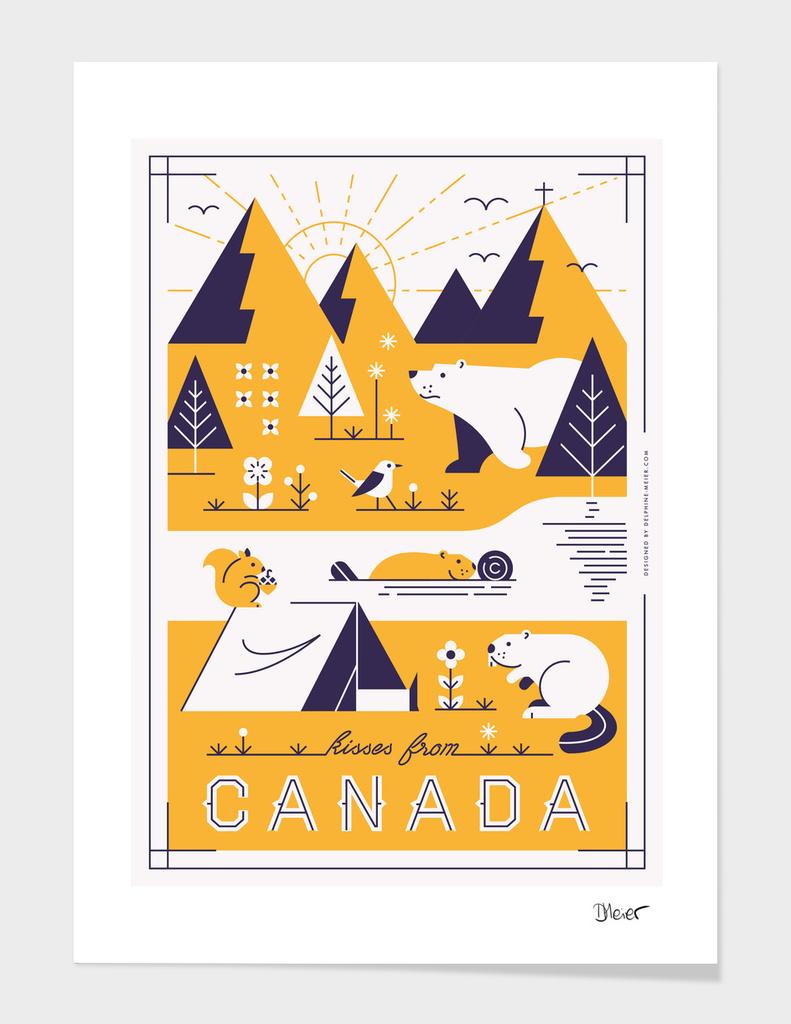Kisses from Canada main illustration