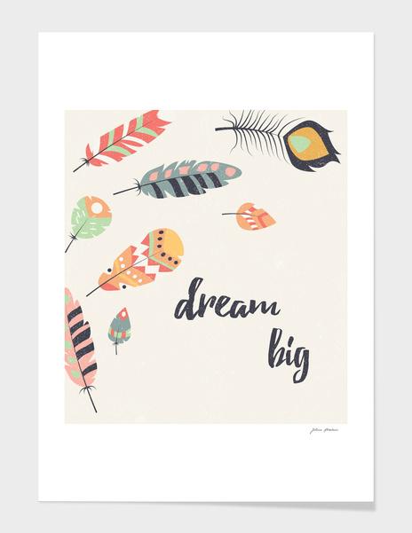 Dream big tribal feathers main illustration