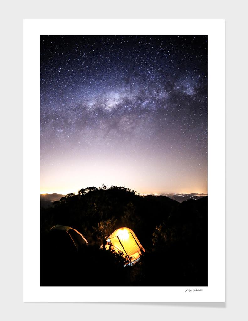 Stargaze Camping Night main illustration