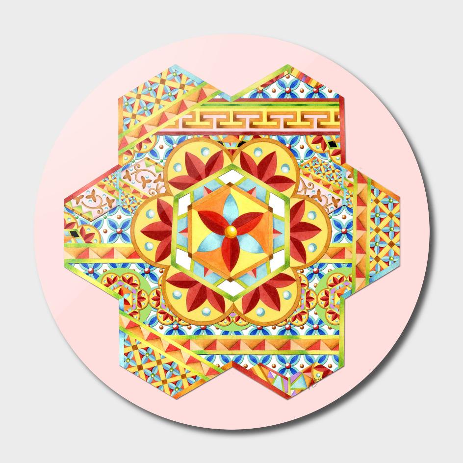 Gypsy Caravan Hexagon main illustration