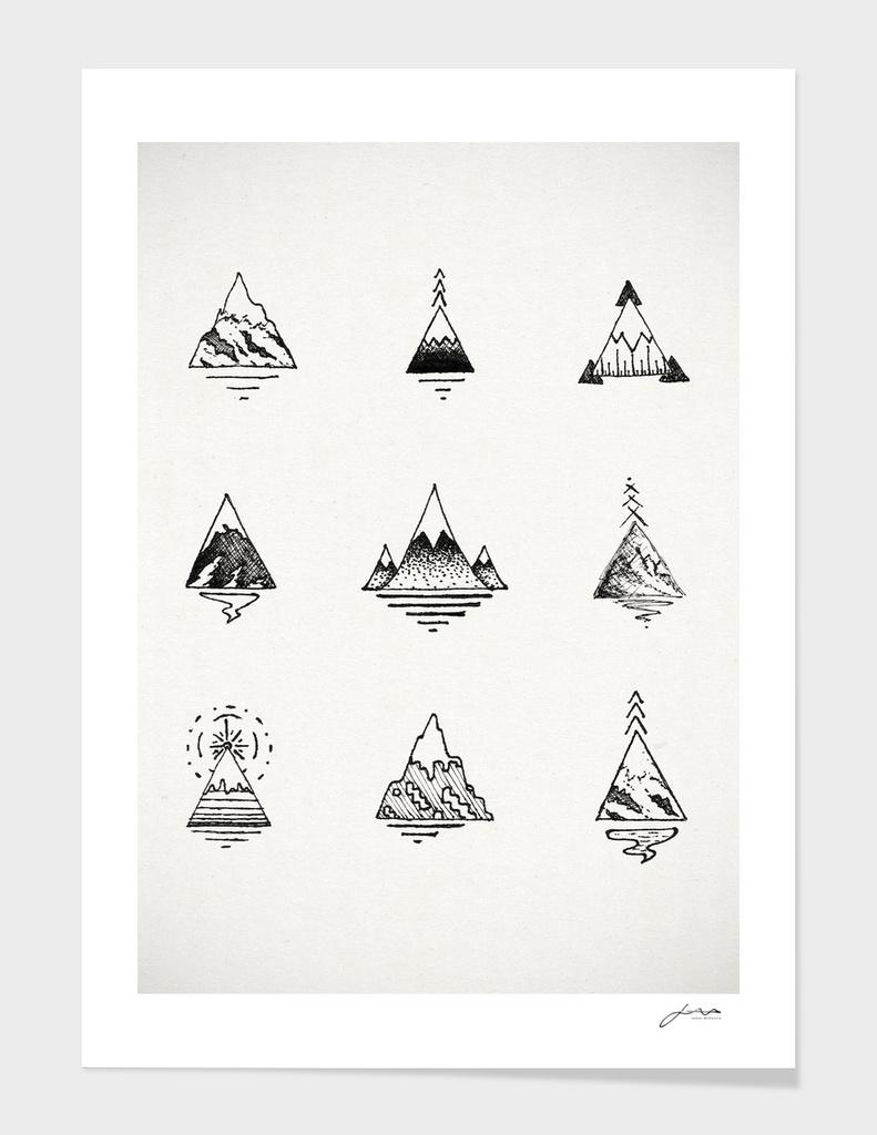 Mountains main illustration