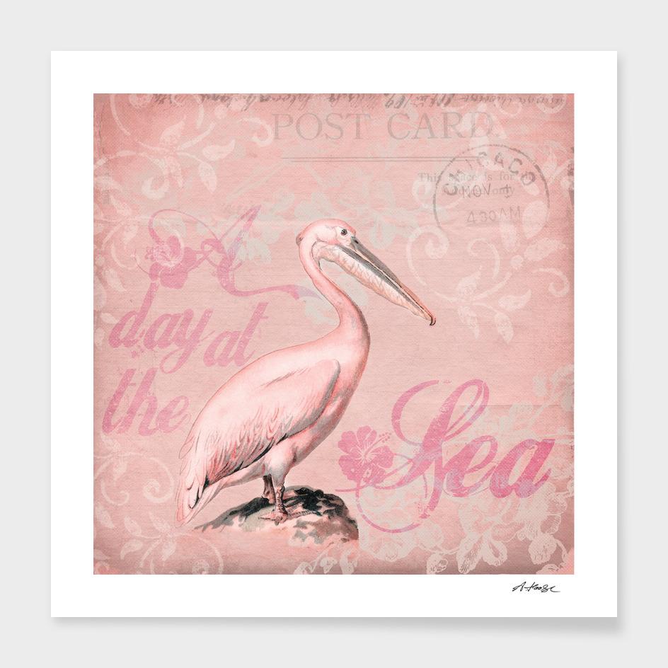 Retro Pelican main illustration
