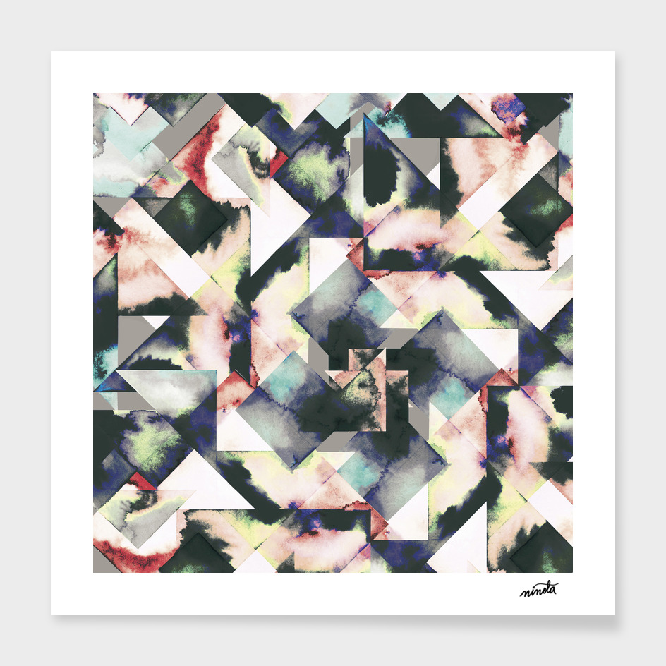 Watercolor tiles main illustration
