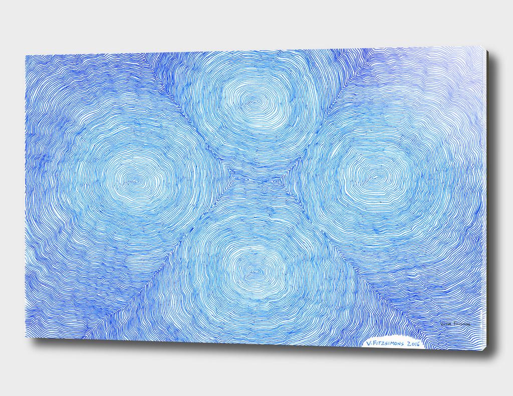 Blue ripples, four loci