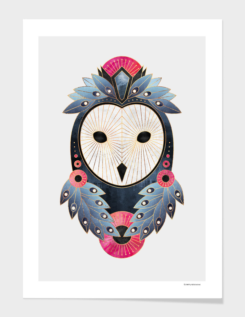 Owl 1 - Light main illustration