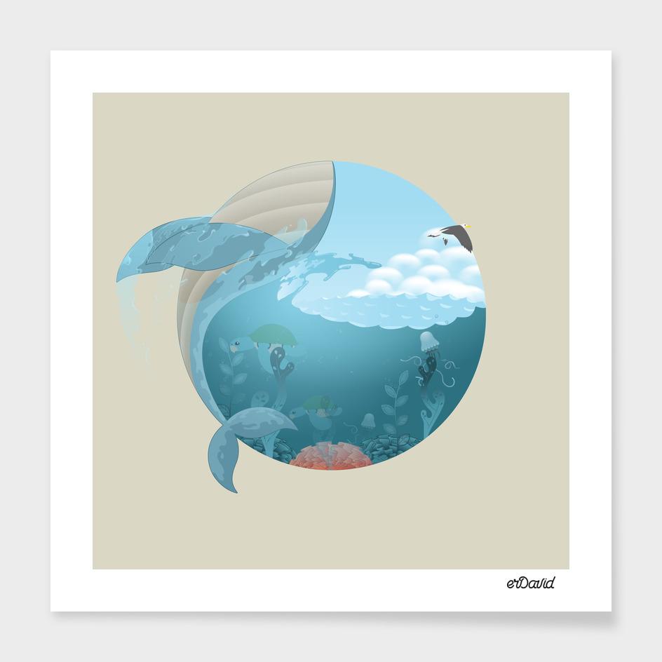 Whale Jump main illustration