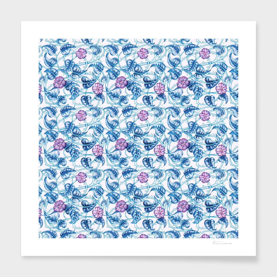 Morning Glory Floral Pattern