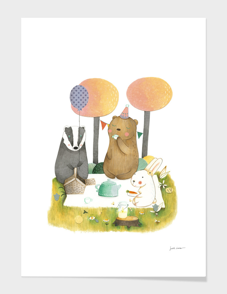 Picnic In The Forest main illustration