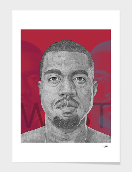 Kanye West illustration portrait main illustration