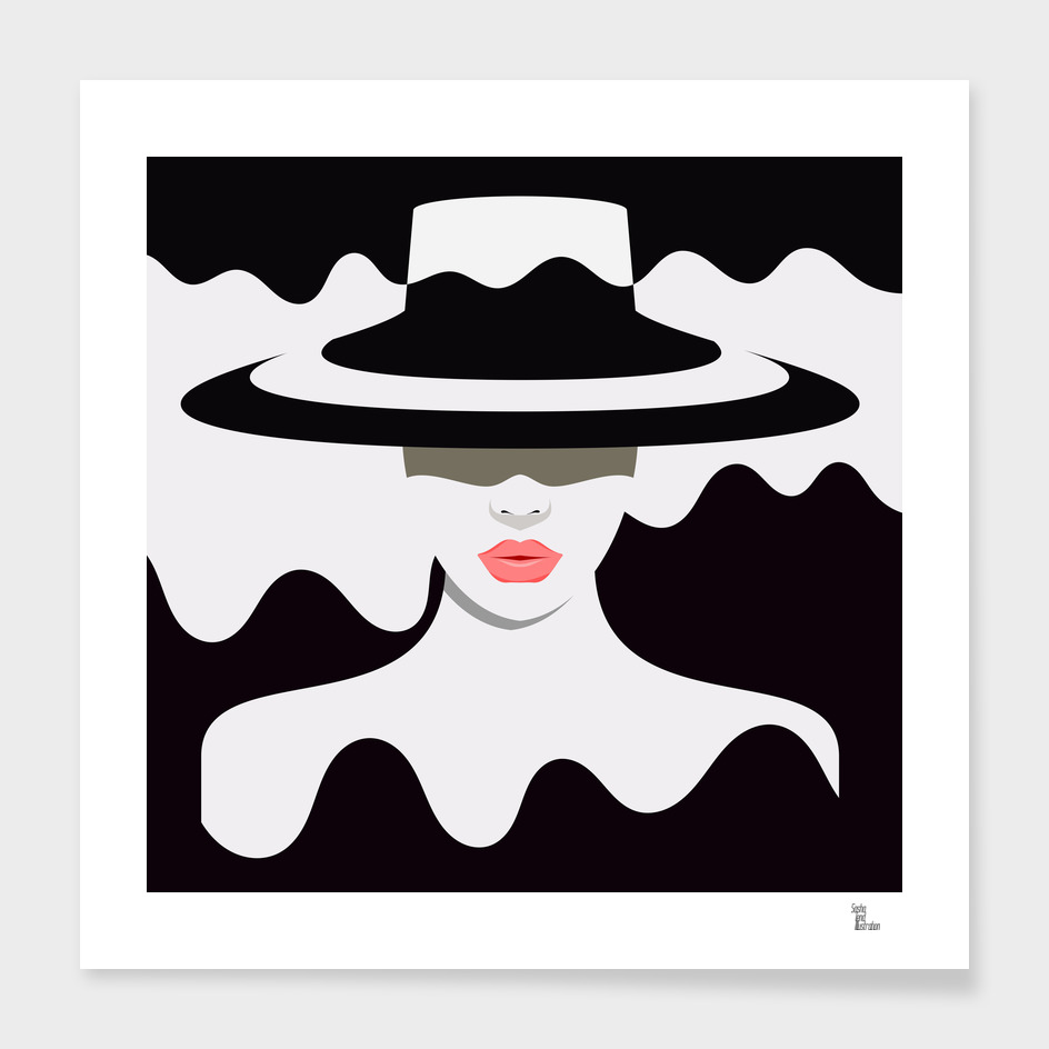 Woman in hat main illustration