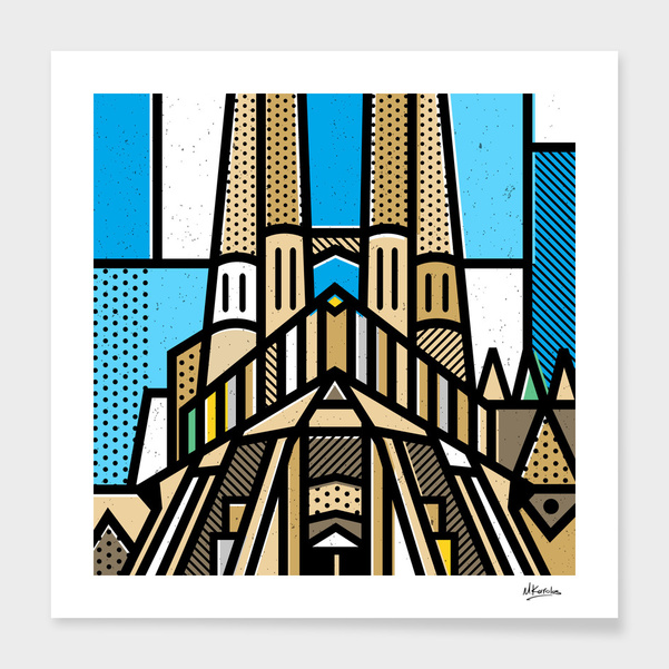 Spain: Sagrada Familia main illustration