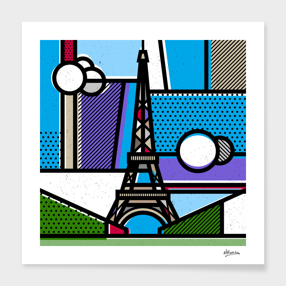 France: Eiffel Tower main illustration