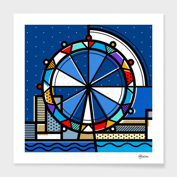 England: London Eye main illustration