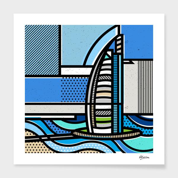 Dubai: Burj Al Arab main illustration