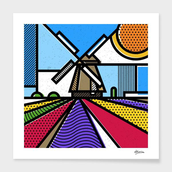 Holland: Windmill main illustration