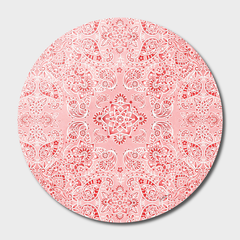 Pink Paisley Mehndi main illustration