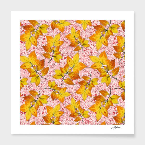 Paisley Bandana Autumn Leaves main illustration