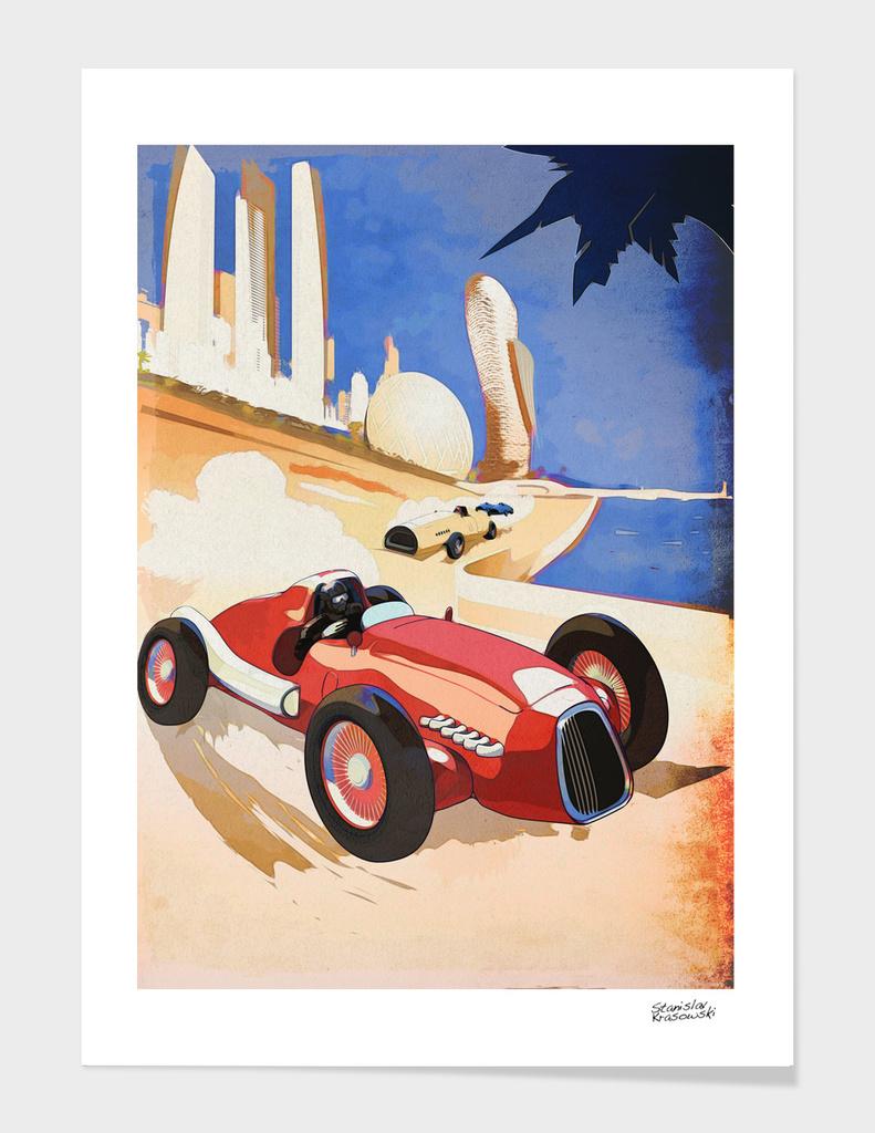 Vintage Race Abu Dhabi Poster