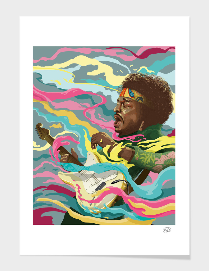 Jimi Hendrix main illustration