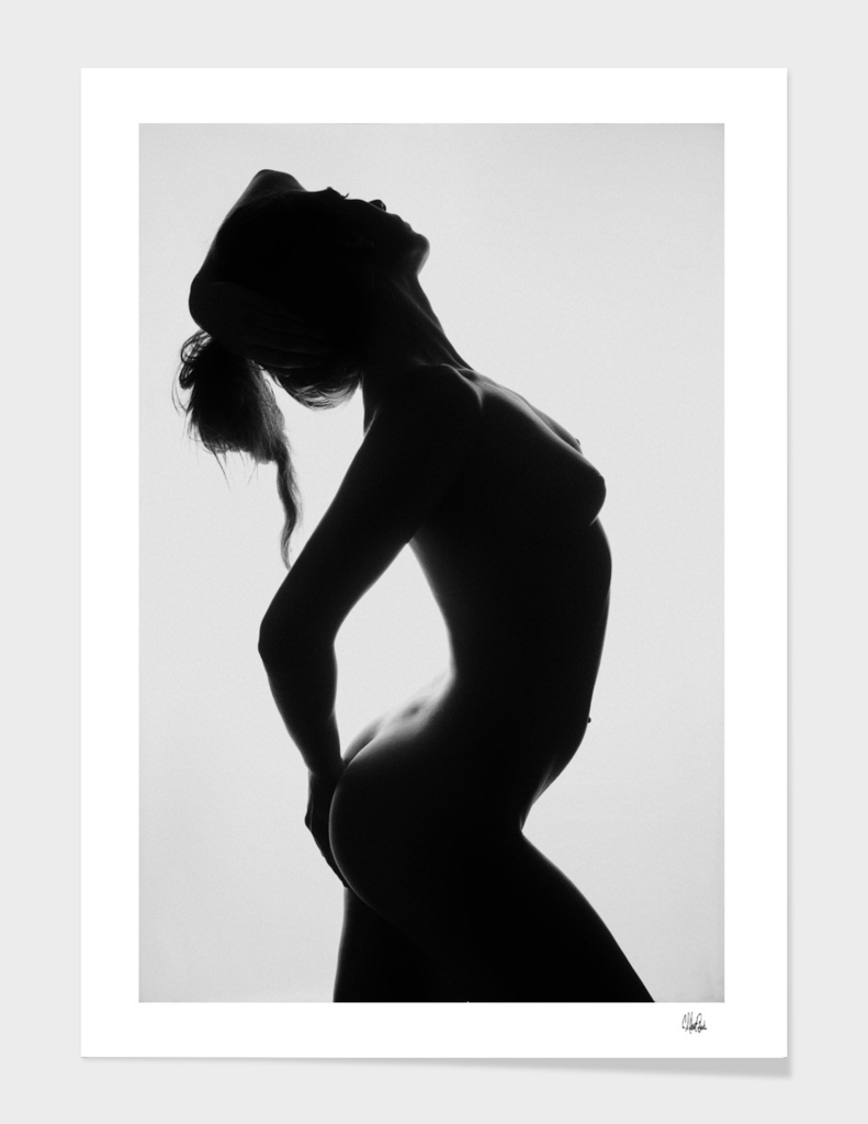Fit Woman's Body scape - Silhouette