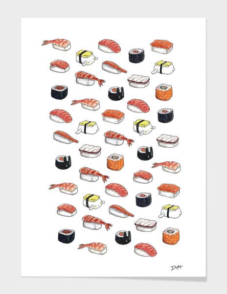 Lazy Bunnies and Sushi main illustration