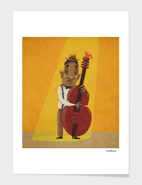 The Double bass player main illustration