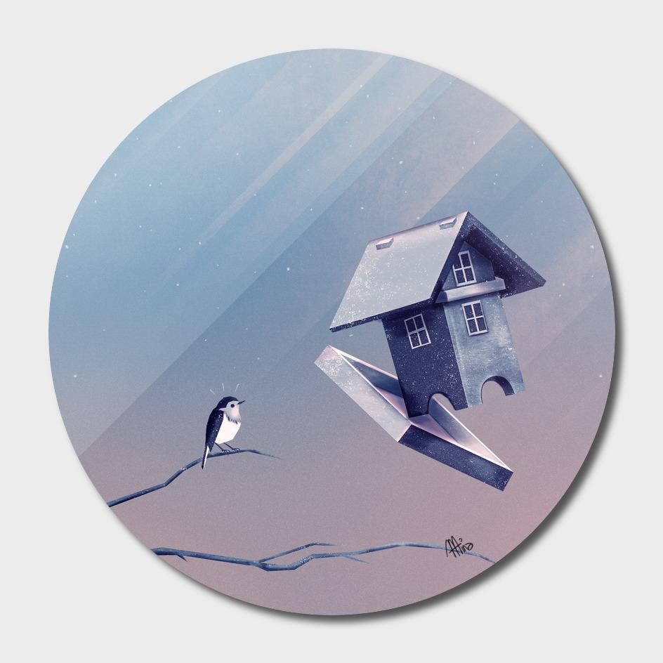 Freezing Birdhouse