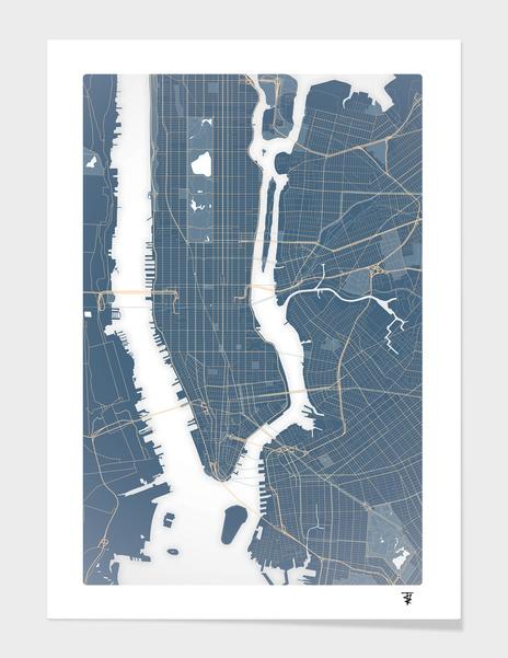 New York City - Detailed Road Map main illustration