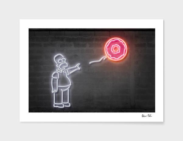 Donut balloon main illustration