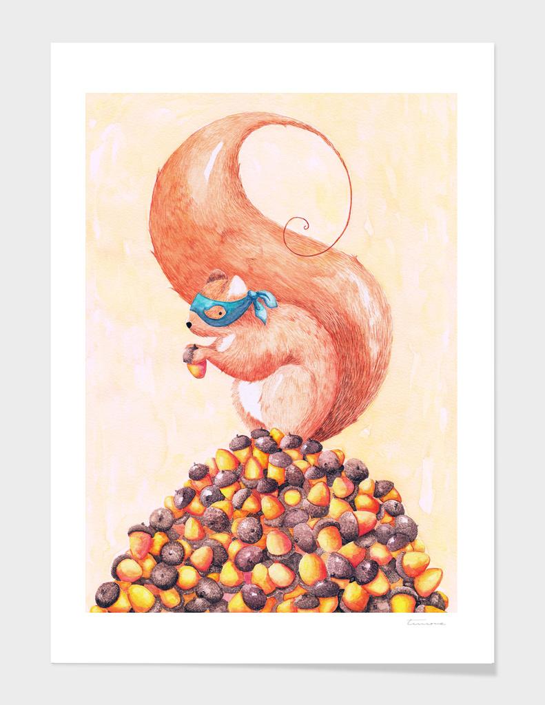 The Bandit Squirrel main illustration