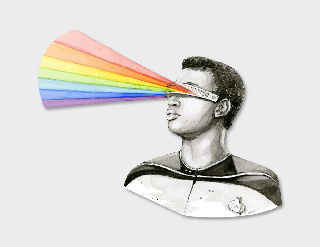 Geordi Sees the Rainbow