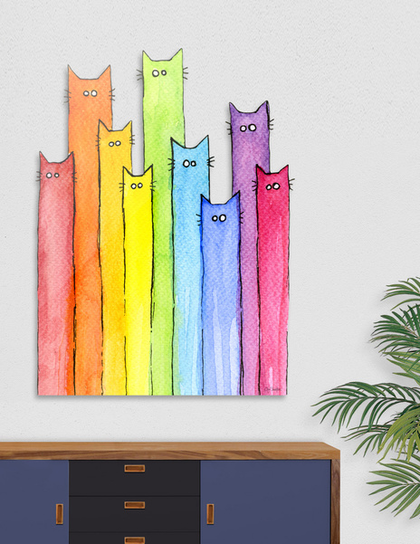 Rainbow of Cats main illustration