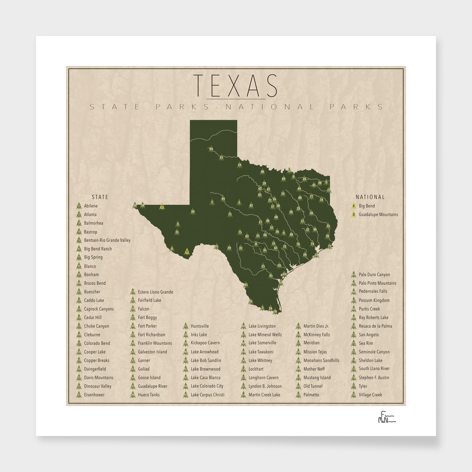 Texas Parks main illustration