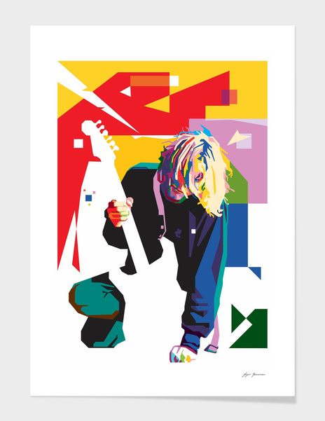 Kurt Cobain in WPAP Art main illustration