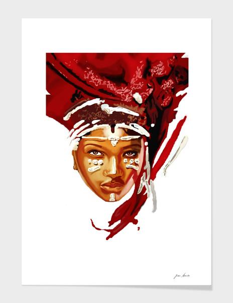 African Woman main illustration