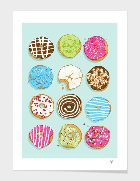 Sweet donuts main illustration
