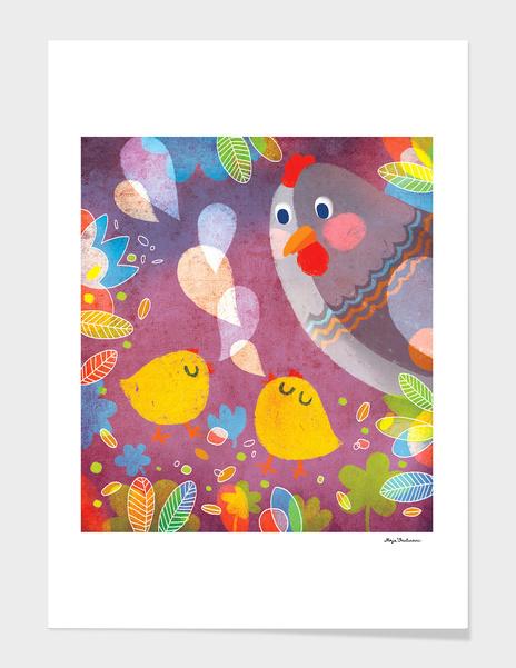 Chatty Chickens main illustration
