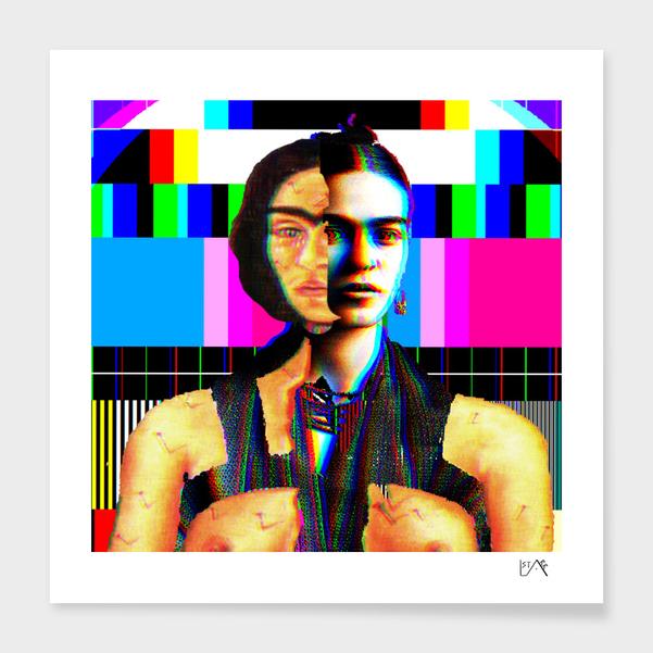 Frida Kahlo BroKen Column in colour main illustration