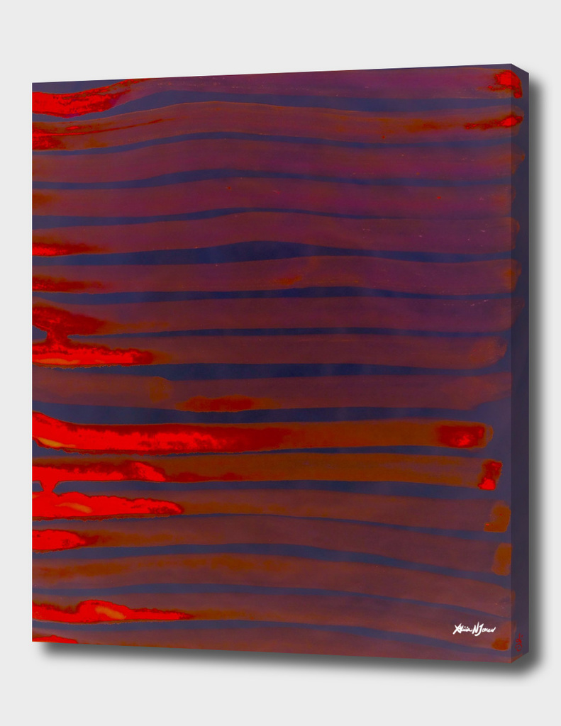 Red lines numbered edition canvas print by alicia jones for Red line printing