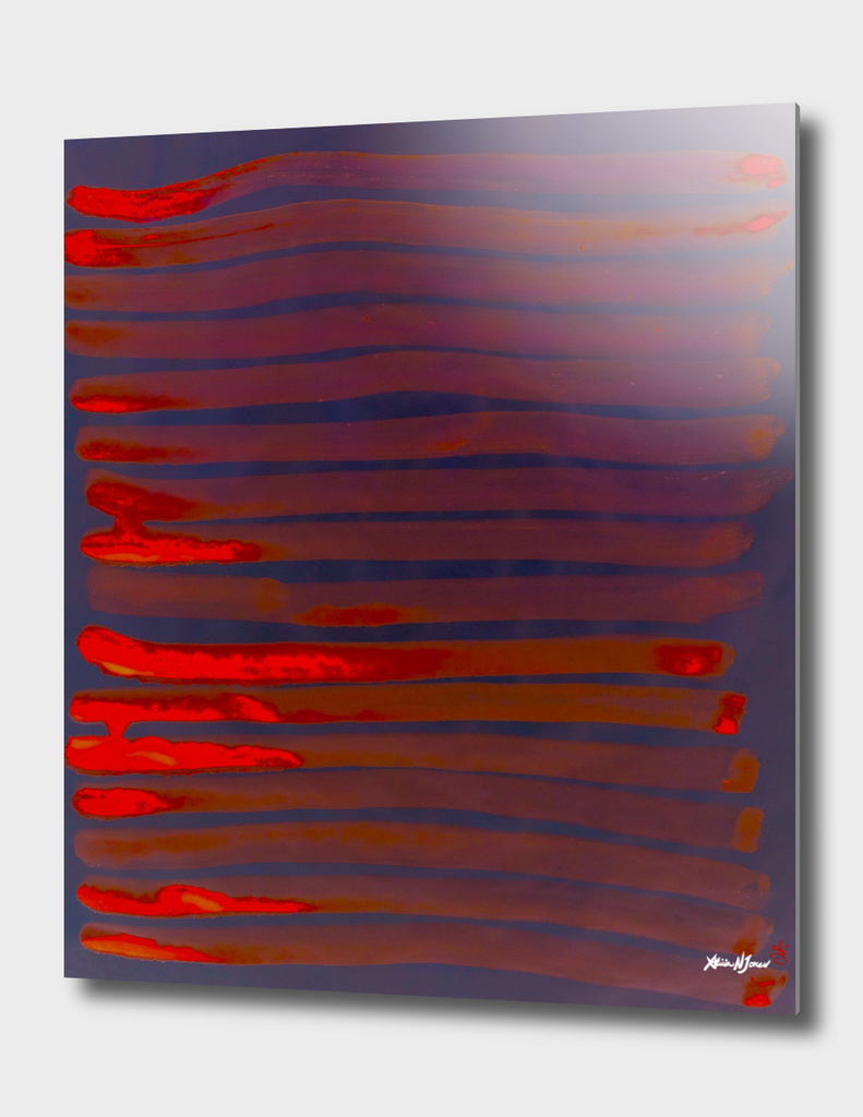 Red lines numbered edition aluminum print by alicia for Red line printing