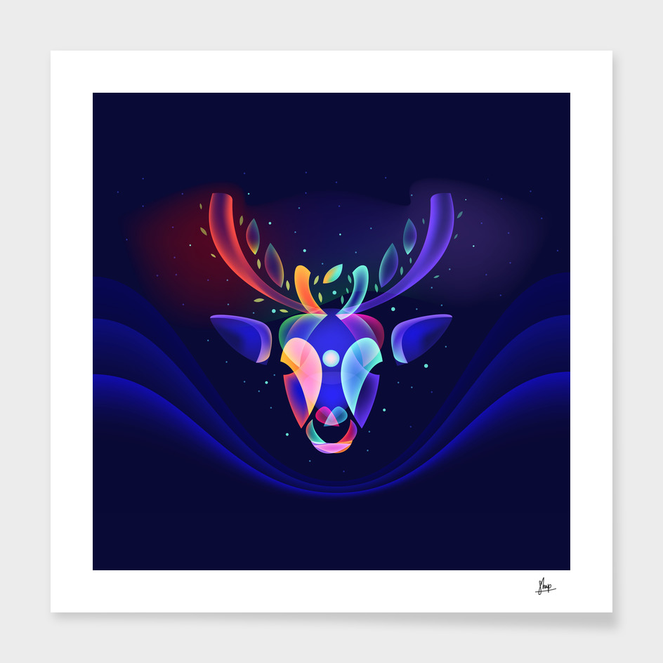 Fantasy Reindeer's Dream main illustration