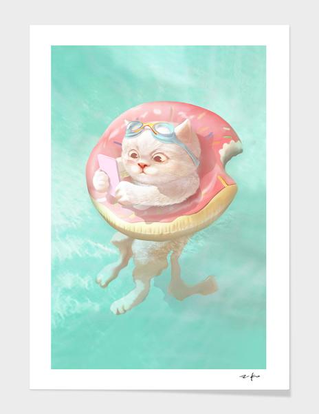Donut Pool Float main illustration