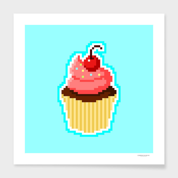 Pixel Cupcake main illustration