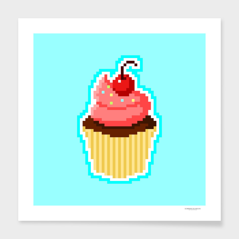 Pixel Cupcake main illustration