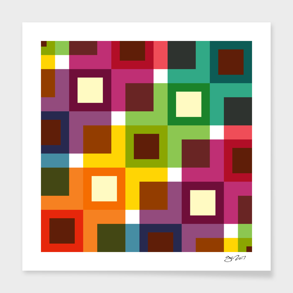 Colorful Square Pattern main illustration