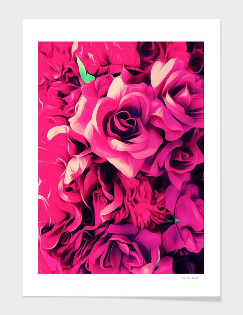 pink roses texture background main illustration