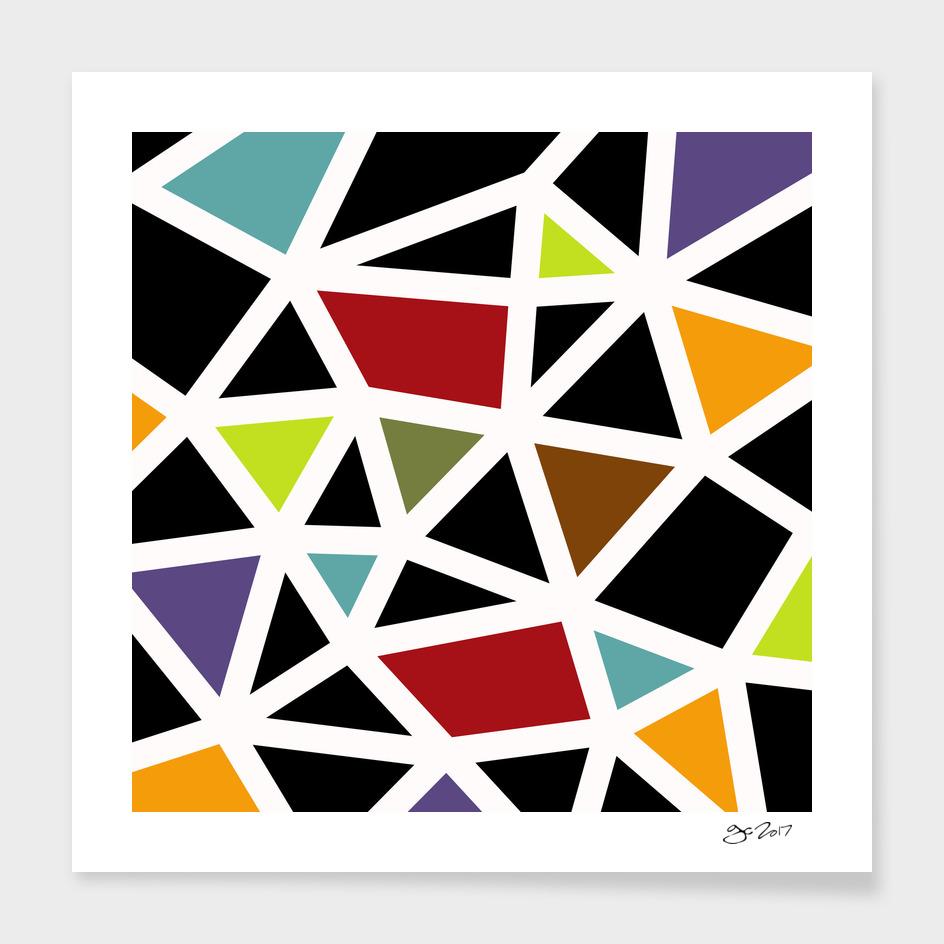 Black Lines & colors pattern #1 main illustration